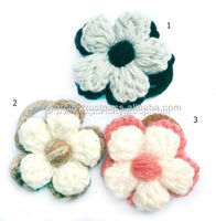 Crochet Flower Hair Elastic Band for Kids & Girls