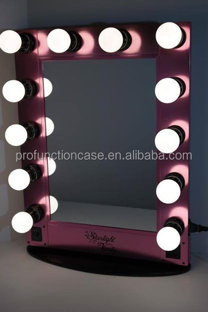 clairage maquillage miroir station mobile maquillage clair e miroir avec 12 ampoules id de. Black Bedroom Furniture Sets. Home Design Ideas