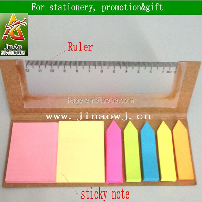 Kraft Paper Cover Sticky Notes For Gift Desk Stationery
