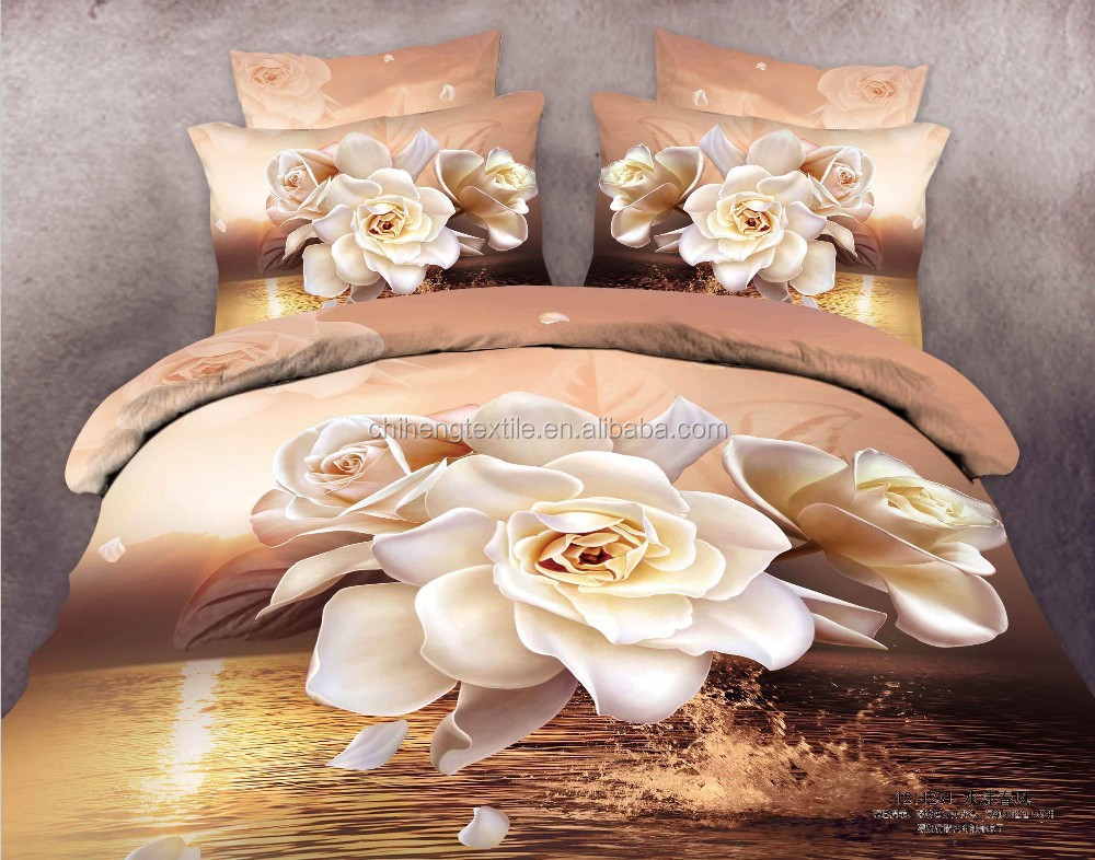 wholesale duvet covers cheap bed sheets big flower 3d bedding <strong>set</strong>