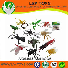 Simulation plastic mini toy animal beetle insect toy 12 IN 1
