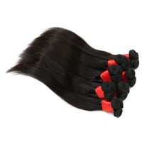 "Brazilian Straight Hair Weave Bundles 3 pcs/bundle Unprocessed Wholesale Virgin Brazilian Hair 10"" Human Hair Extension"