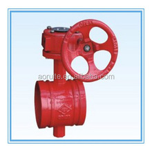 Grooved Worm Gear/Handwheel Butterfly Valve for fire fighting