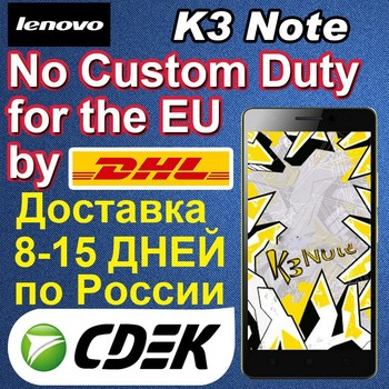 Original Lenovo K3 Note 5.5'' Android 5.0 1920*1080 Octa Core 1.7GHz MTK6752 2GB/16GB smart phone
