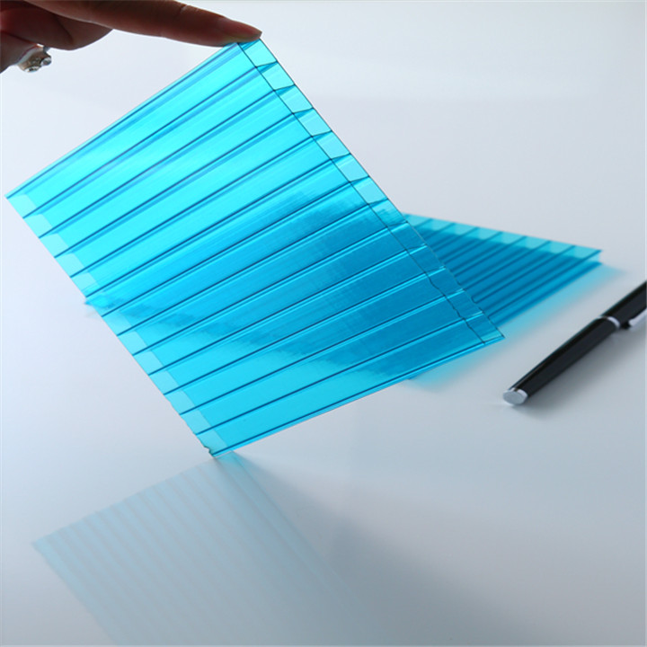 Solar Transparent 6mm thickness polycarbonate hollow Low cost roof panel