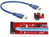 VER007S PCI-E Express 1x to 16x 15pin sata USB Riser Card for bitcoin