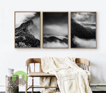 Wall art decor beautiful black scenery canvas printing for living room