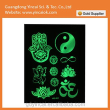 glow in the dark sticker paper with low price human body art party supply