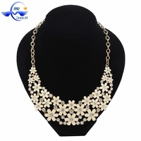 Yiwu Factory Handmade New Model Fashion Beautiful Daisy Chain Necklace Of Women's Accessories
