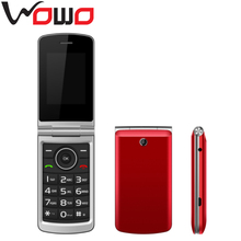 2017 Cheap Flip Mobile Phone 2.4 inchs Unlocked Flip Phone Big Button Flip Cell Phone with Dual Sim Card -G360