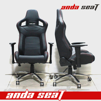 CAR RACE RACING LUXURY OFFICE CHAIR SEAT BLACK PVC AD-2