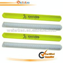 Promotional and Eco friendly Reflective slap band rulers