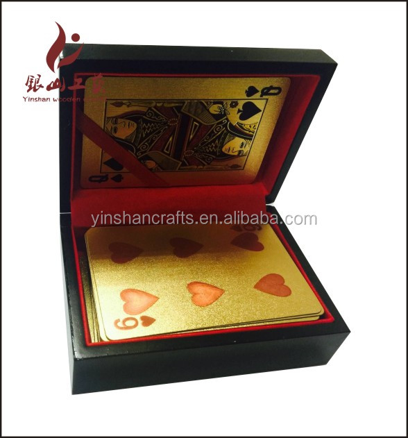 wooden box for 999.9 gold playing cards