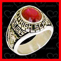 Custom made stainless steel class rings jewelry gold plated without stones