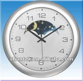 Plastic Sun/Moon Hanging Wall Clock