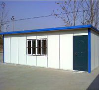 Flat roof modular container house