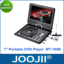 Popular Model 7 Inch Portable DVD Player Battery with TFT Screen