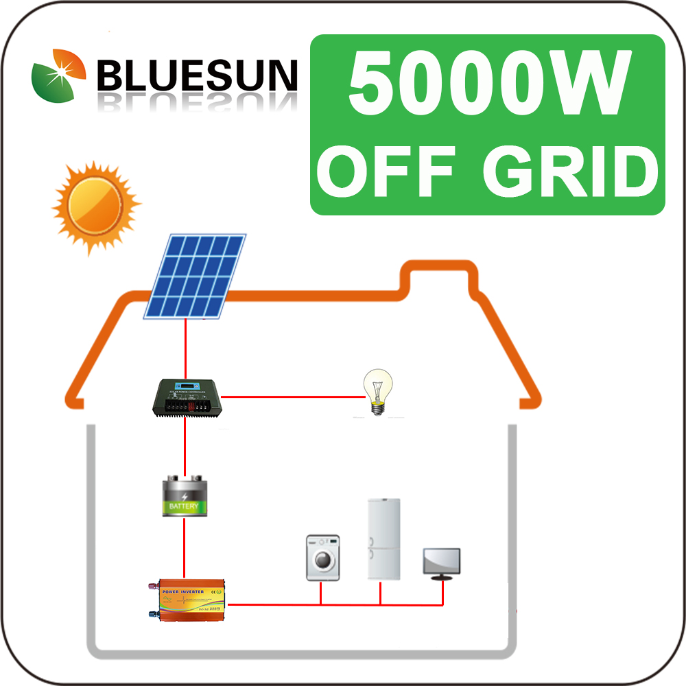 5kw home solar systems solar power system for residential solar energy photovoltaik system 5kw