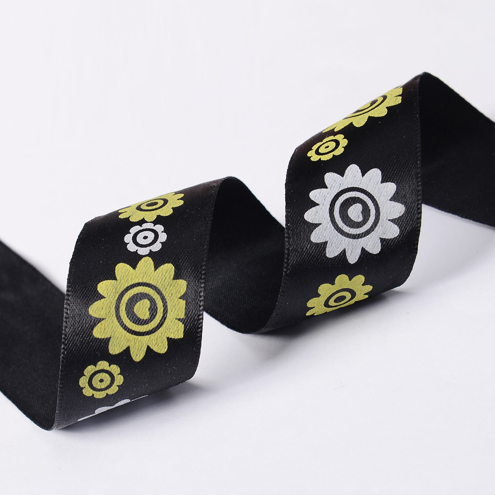 "1"" 25mm High Quality Polyester Printed Satin Ribbon Single Face"
