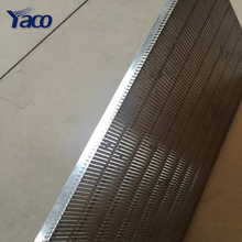 Hot sales stainless steel wedge wire screen panel and pipes for flour waster water