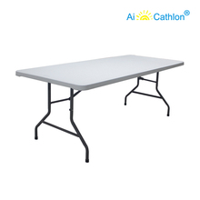78'' Foldable Banquet Catering Table Space Saving Plastic Folding Event Buffet Tables