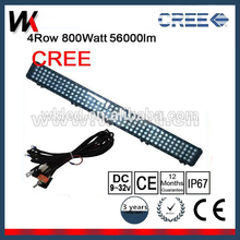 Cre e High Lumen 24V 800 Watt Led Light Bar 50 Inch 4 Row Led Light Bar For Offroad Car Jeep Truck Cars Accessories