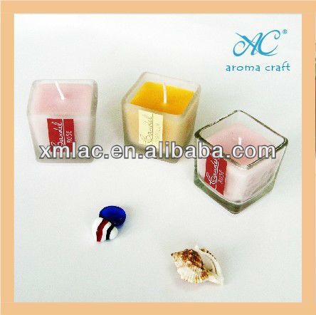 2012 decorative aroma glass candle holder jar cheap square candle