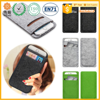 Wholesale hot sale plain color felt cell phone case