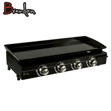 SS Cooking Plate Stainless 4 Burner Indoor Commercial Plancha Grill