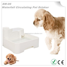Super Quiet Operation Waterfall Circulating Pet Drinker with dogs fountains