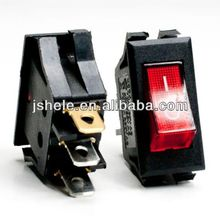 3pin Red Snap-in ON-OFF illuminated ROCKER SWITCH 15A 250V 20A 125V,
