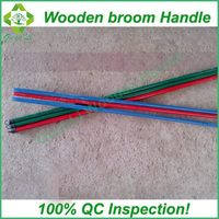 machine manufacturing pvc broom handle wood broom pole in mix colors packing