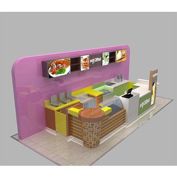 Best selling new design coffee kiosk fast food kiosk buy for Indoor food kiosk design