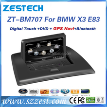 7 inch 1 din in-dash wince 6.0 system car radio player for BMW X3 E83 car gps navigator with car accessories GPS DVD Bluetooth