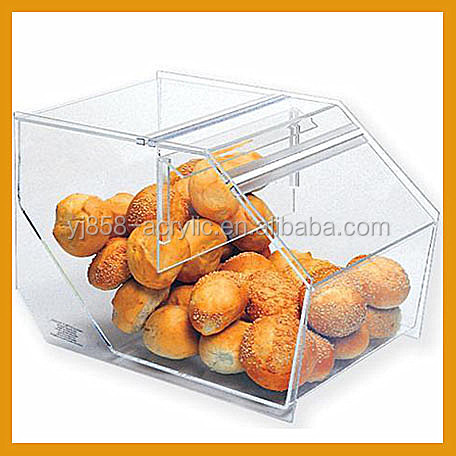 cheap acrylic transparency bread box and canister set
