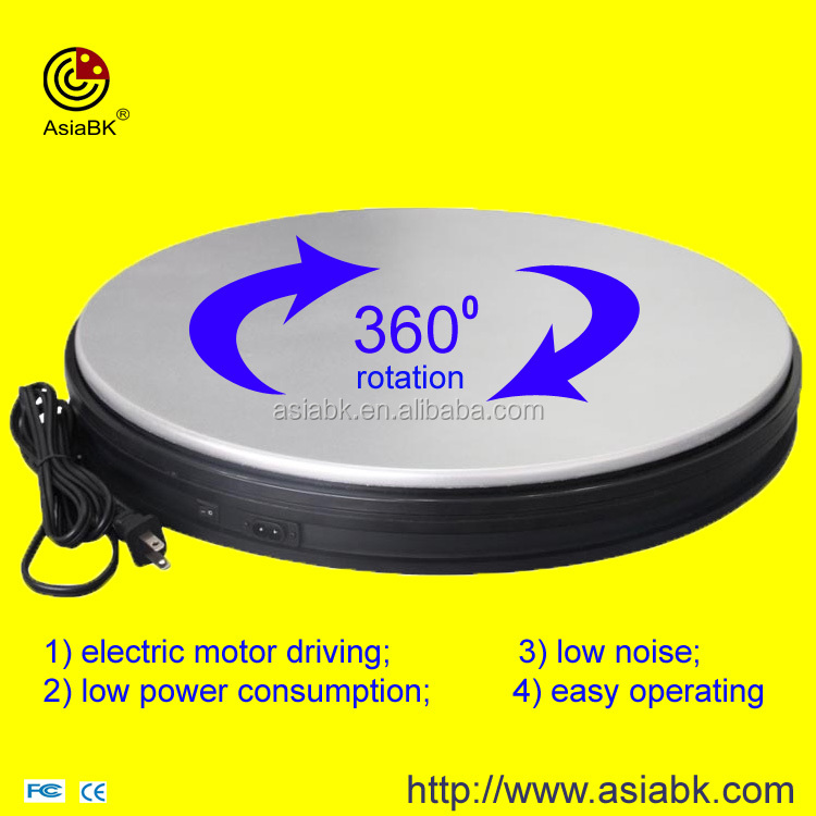 rotating display platform / craft work 360 degree electric revolving presentation turntable