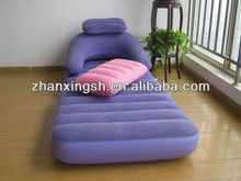 Top level flocked pvc sofa chair inflatable,inflatable pvc sofa chair