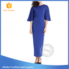 New design o-neck long dress Eco - Friendly half sleeve sexy bodycon tunic dress