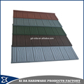 Building material wood colourful stone coated metal roof tiles