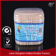 2014 hot sale bamboo toothpicks most popular natural birch wood ice cream toothpicks with double points