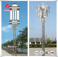 LED solar landscape lamps, outdoor lighting for garden Stainless steel pole