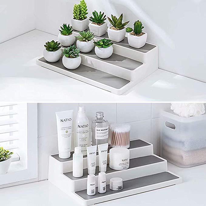 3-Tier Non-Skid kitchen spice cabinet Shelf Pantry Organizer