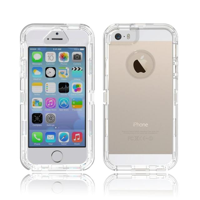 Hard back plastic PC TPU Crystal Clear Hard Phone Case for iPhone