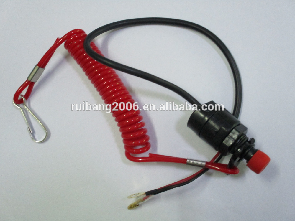 Watercraft motor boat jet ski sking universal kill switch lanyard switch
