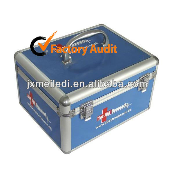 MLD-FA02 with silk screen print Aluminum Medical Box medicine storage box