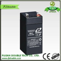 China supplieer rechargeable 4ah storage ups 4v lead acid battery