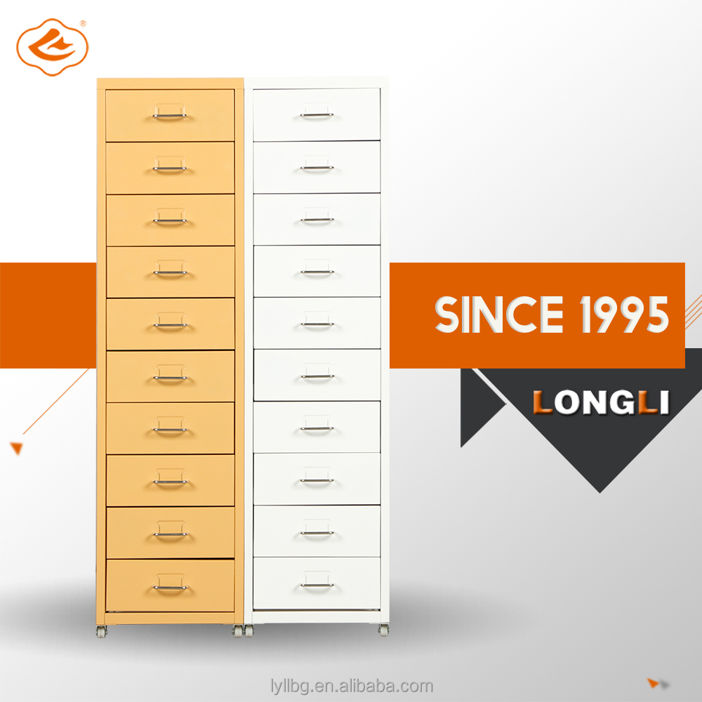Commercail Furniture Office Decorative Drawers Metal 10 Drawers Units