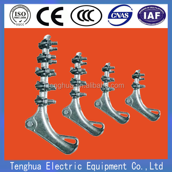 High quality hot dip galvanized aluminium strain clamp / tension clamp with 2 3 4 U bolt for pole line