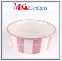 Factory Manufacture Artificial Craft OEM Design Wholesale Grey Color Ceramic Animal Dog Water Bowl For Food And Water