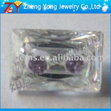 rectangle shape assorted color swiss cubic zirconia